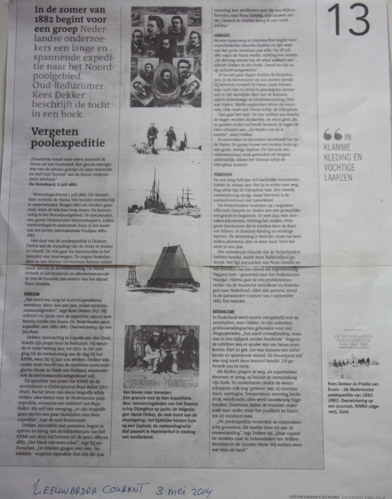 Leeuwarder Courant 3 mei 2014-1